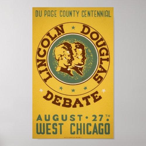 Lincoln-Douglas Debate - WPA - 1939