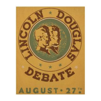 Lincoln Douglass debate historical vintage poster