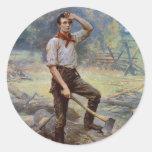 Lincoln el divisor del carril de Jean L. Gerome Pegatina Redonda