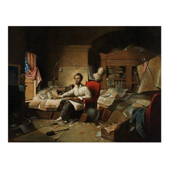 Lincoln & Emancipation Proclamation Postcard