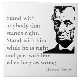 Lincoln en la teja de la integridad