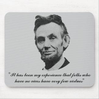 Lincoln en vicios y virtudes alfombrilla de raton