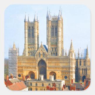 Lincoln, England Square Sticker