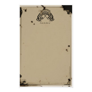 lincoln era faux vintage personalized stationery