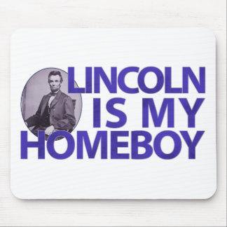 Lincoln es mi Homeboy Tapetes De Raton