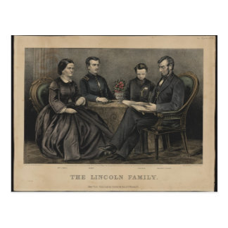 Lincoln Family Postcard