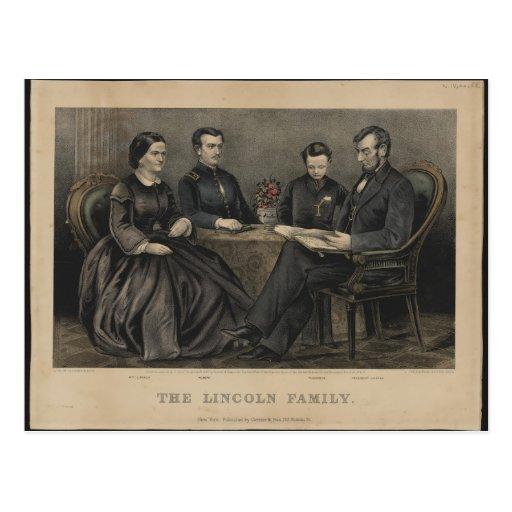 Lincoln Family Postcard