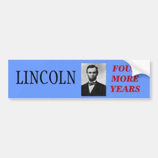 Lincoln For President Car Bumper Sticker