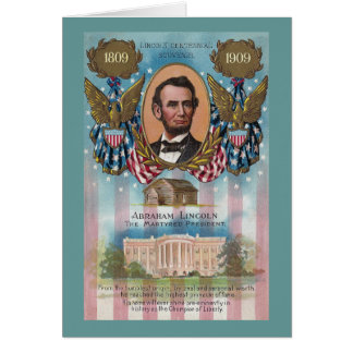 Lincoln, From Log Cabin to White House Greeting Card