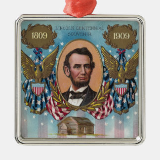 Lincoln, From Log Cabin to White House Christmas Ornament
