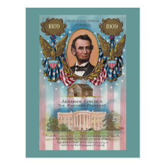 Lincoln, From Log Cabin to White House Postcard