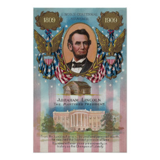Lincoln, From Log Cabin to White House Poster