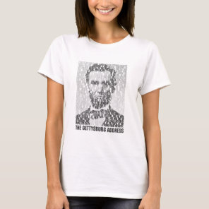 Lincoln/Gettysburg Text Mosaic Women's Shirt