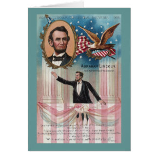 Lincoln Giving His Inaugural Address Card