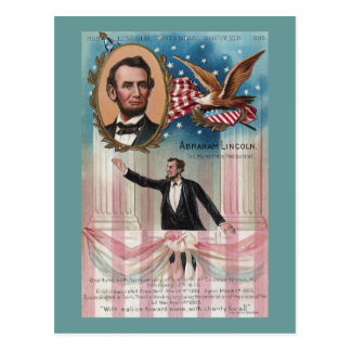 Lincoln Giving His Inaugural Address Postcard