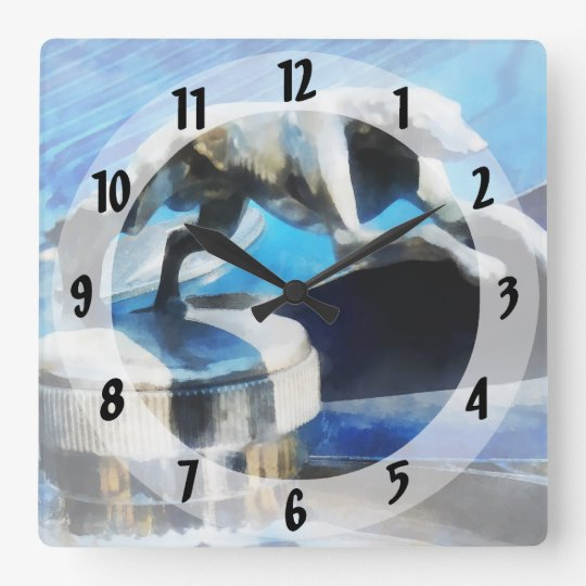 Lincoln Greyhound Hood Ornament Square Wall Clock