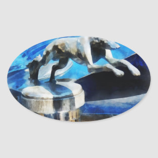 Lincoln Greyhound Hood Ornament Oval Stickers
