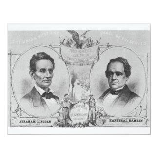 Lincoln - Hamlin Card