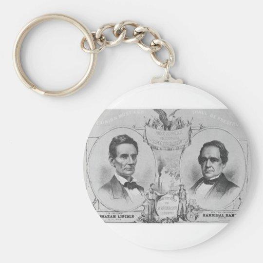 Lincoln - Hamlin Keychain