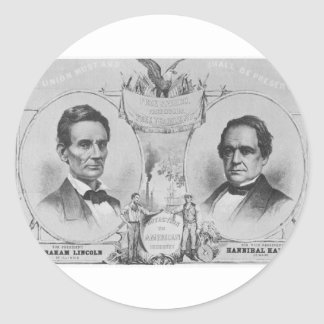 Lincoln - Hamlin Pegatina Redonda