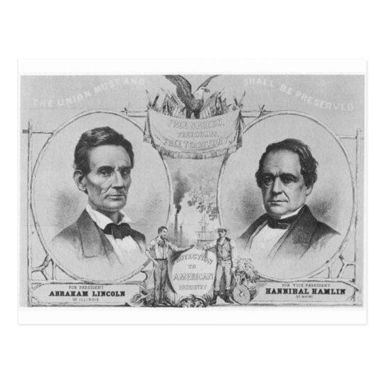Lincoln - Hamlin Postcard