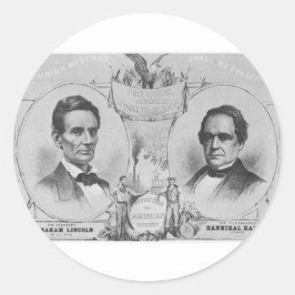 Lincoln - Hamlin Round Stickers