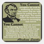Lincoln: Help Yourself! Square Sticker