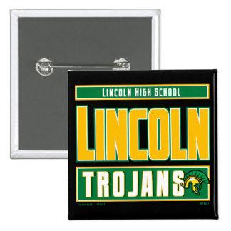 LINCOLN HIGH SCHOOL TROJANS PINBACK BUTTON