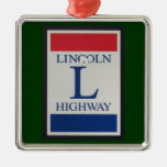 Lincoln Highway Road Sign Ornament