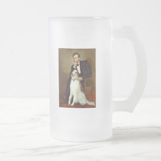 Lincoln & his Borzoi Frosted Glass Beer Mug