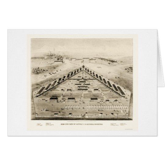 Lincoln Hospital in Washington, DC 1865 Card