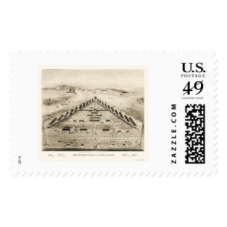 Lincoln Hospital in Washington, DC 1865 Stamp