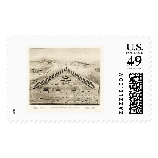 Lincoln Hospital in Washington, DC 1865 Stamps