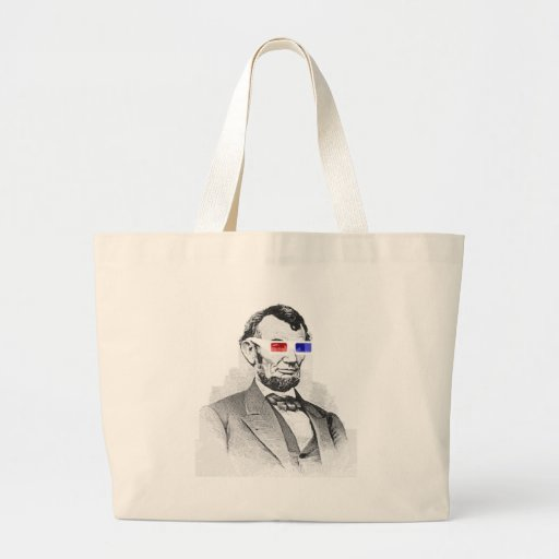 Lincoln in 3D! Canvas Bag