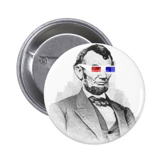 Lincoln in 3D! Pinback Button