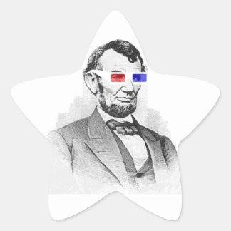Lincoln in 3D! Star Sticker