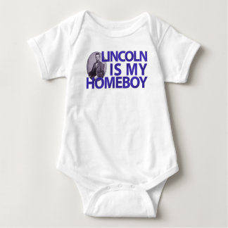 Lincoln Is My Homeboy Baby Bodysuit