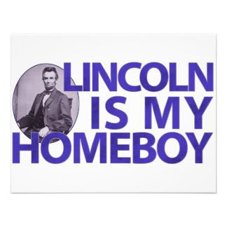 Lincoln Is My Homeboy Custom Invite