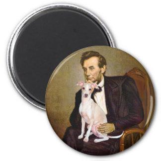Lincoln - Italian Greyhound 5 2 Inch Round Magnet