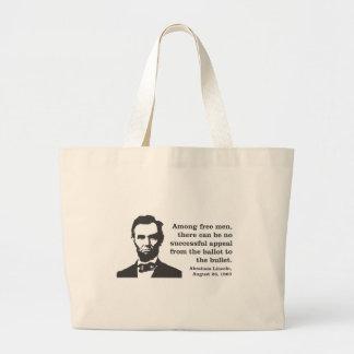 Lincoln Jumbo Tote Bag