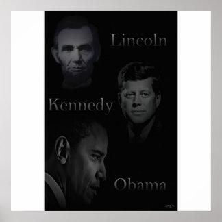 Lincoln, Kennedy, Obama Póster
