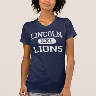 Lincoln - leones - alto - Jersey City New Jersey Camiseta