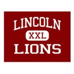 Lincoln - Lions - Middle - Santa Monica California Post Card