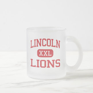 Lincoln - Lions - Middle School - Newark Ohio Frosted Glass Coffee Mug
