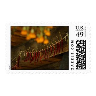 Lincoln Log Cabin Postage Stamp