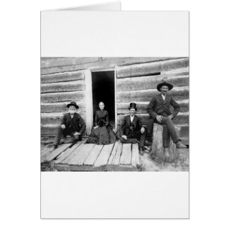 Lincoln Logs, 1891 Greeting Card