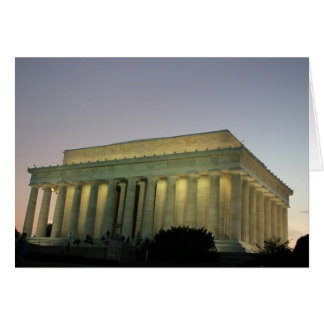 Lincoln Memeorial night scene Greeting Cards