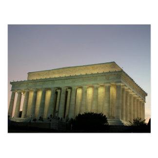 Lincoln Memeorial night scene Post Card