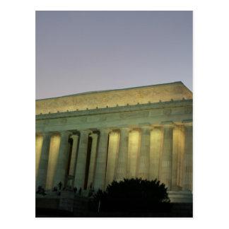 Lincoln Memeorial night scene Post Cards