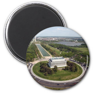 Lincoln Memorial 2 Inch Round Magnet
